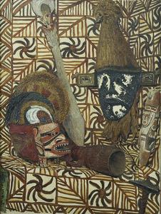 Stilleven met etnografische voorwerpen