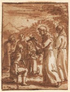 Heilige monnik geneest een lamme