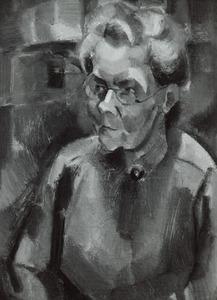 Portret van Ida Oosterbaan (1863-1938)