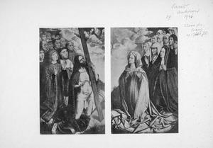 Christus als bemiddelaar voor Philips de Schone en zijn gevolg (linkerluik); Maria als bemiddelares voor Johanna de Waanzinnige en haar gevolg (rechterluik)