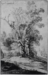 Apollo en Daphne, veranderd in een laurierboom