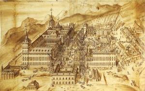 Escorial klooster in aanbouw