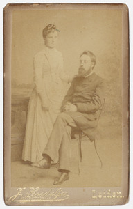 Portret van  Christianus Cornelius Uhlenbeck (1866-?) en Wilhelmina Maria Melchior (1862-?)