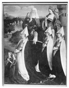 Retabel van de familie Brömse: Margarete Brömse en haar dochters met heiligen