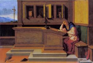 Heilige Hiëronymus in zijn studeervertrek
