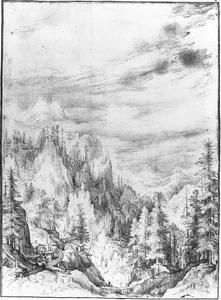 Berglandschap met dorpje