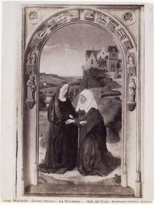 Drieluik met scènes uit het leven van Maria: De Visitatie