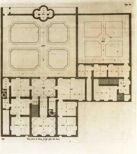 Palazzo Rovere: Plan van de hoofdverdieping