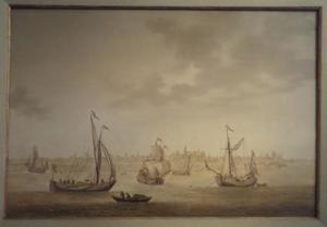 Driemaster en andere vaartuigen voor Gouda