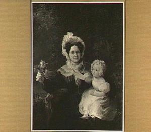 Portret van Elisabeth Reynvaan, vrouw van Johannes Leembruggen en hun dochtertje Elisabeth Johanna