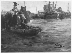 In de haven van Dordrecht