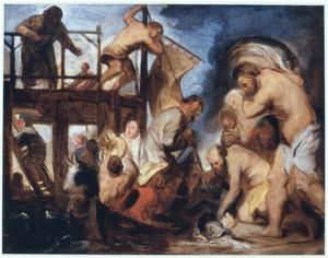 Petrus vindt de stater in de bek van de vis (Matt.17:27)