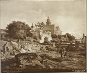 Klooster met landerijen in een berglandschap