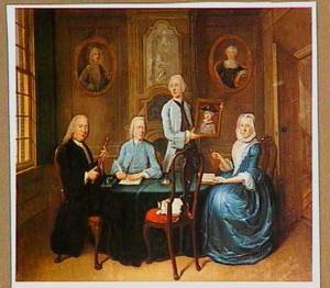 Familieportret van een onbekende familie
