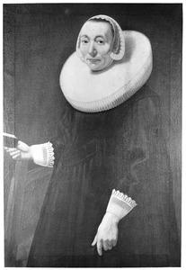 Portret van een vrouw, genaamd Margaretha Uijttenbogart (1608-1674)