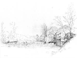 Keizerlijke watermolen in de boomgaard