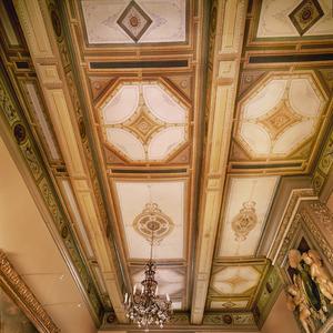 Plafondschildering met medaillons en ornamenten