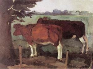 Twee koeien onder een boom