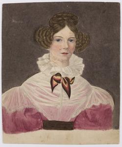 Portret van een vrouw, waarschijnlijk Elisabeth Bonifacia Maria Hermina Singendonck (1803-1857)