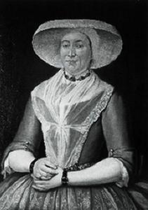Portret van Auckje Fontein (1730-1799)