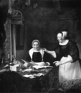 Portret van Sara Antheunis (?-1678)  en haar dochter Maria Muijser (?-?)