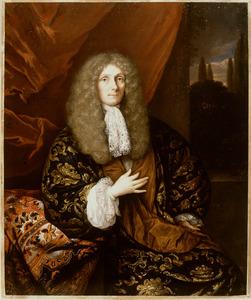 Portret van een man, mogelijk Iman Willem Cau (1663-1734)