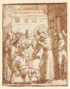 Heilige monnik geneest een zieke man