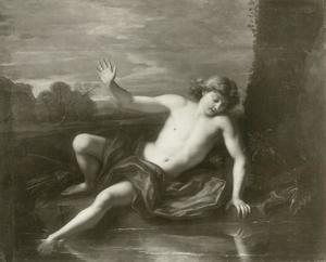 Narcissus bewondert zijn reflectie in het water