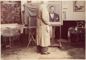 Portret van een man met snor