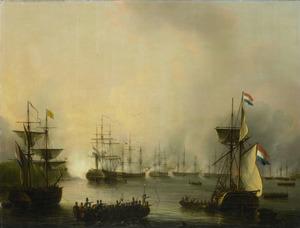 De beschieting van Palembang, Sumatra, 24 juni 1821