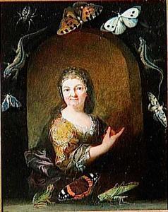 Portret van vermoedelijk Maria Sibylla Merian