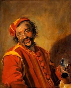 Lachende man met kruik, bekend als 'Peeckelhaeringh'