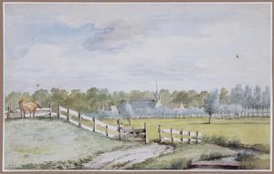 Landschap met de kerk van Dubbeldam