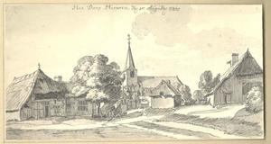 Herwen, gezicht in het dorp met de kerk