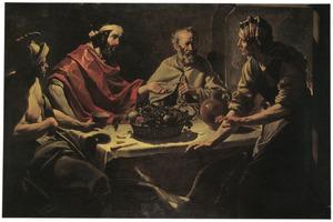 Jupiter en Mercurius bij Philemon en Baucis