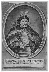 Portret van Bohdan Khmelnyckyi (1595-1657), bevelhebber van de Oekraïnse Kozakken