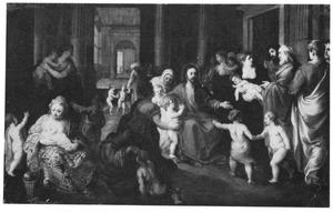 Jezus zegent de kinderen: 'Laat de kinderen tot mij komen'