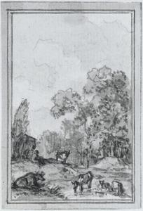 Behangselvlak uit het ontwerp van een achterwand met een landschap