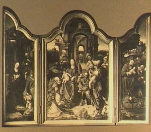 Drieluik met de geboorte van Christus (links); De aanbidding der Koningen (midden); De vlucht naar Egypte (rechts)