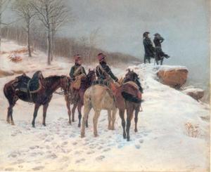 Verkenning in de sneeuw: generaals Moreau en Dessoles bij Hohenlinden in 1800