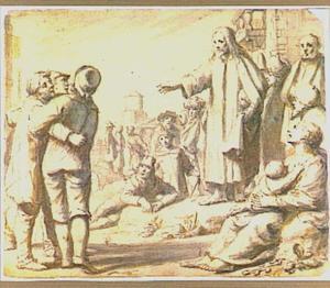 Jezus geneest een blinde te Bethsaïda (Marcus 8:22)