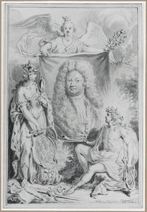 Portret van een edelman omringd door allegorische figuren