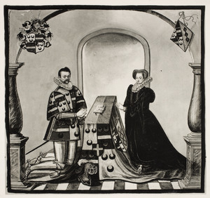 Dubbelportret van Johan van Duvenvoirde (1547-1610) en Odilia Valkenaer (....-1620)