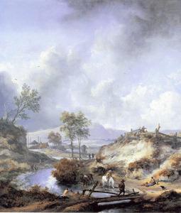 Heuvellandschap met rivier