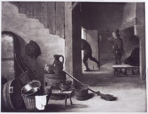 Interieur van een herbergkeuken