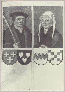 Dubbelportret van Pieter Claesz. Palinc (....-1546) en Josina van Foreest (....-1541)