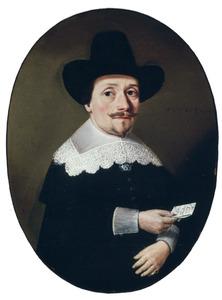 Portret van Pieter van Verhee (??), koopman te Vlissingen, op veertig-jarige leeftijd