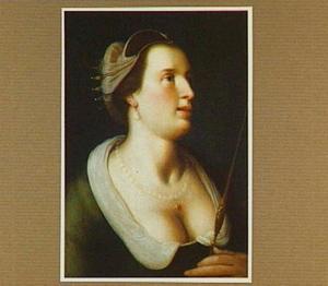Portret van een Griekse godin