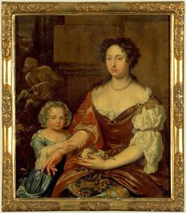 Dubbelportret van Cornelia Quina (1652-1722) en haar dochter Adriana Louisa Wolters (1682-1703)