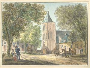Lienden, gezicht in het dorp met de kerk
